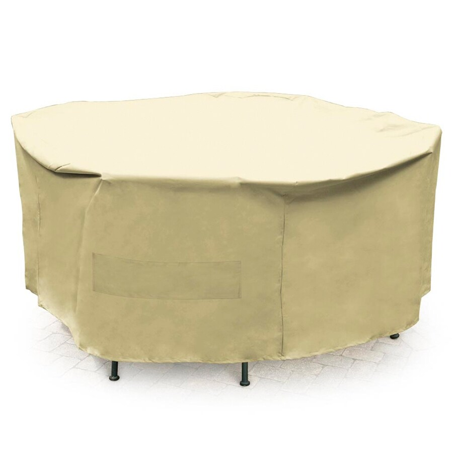 Mr. Bar-B-Q Taupe Dining Table Round Cover