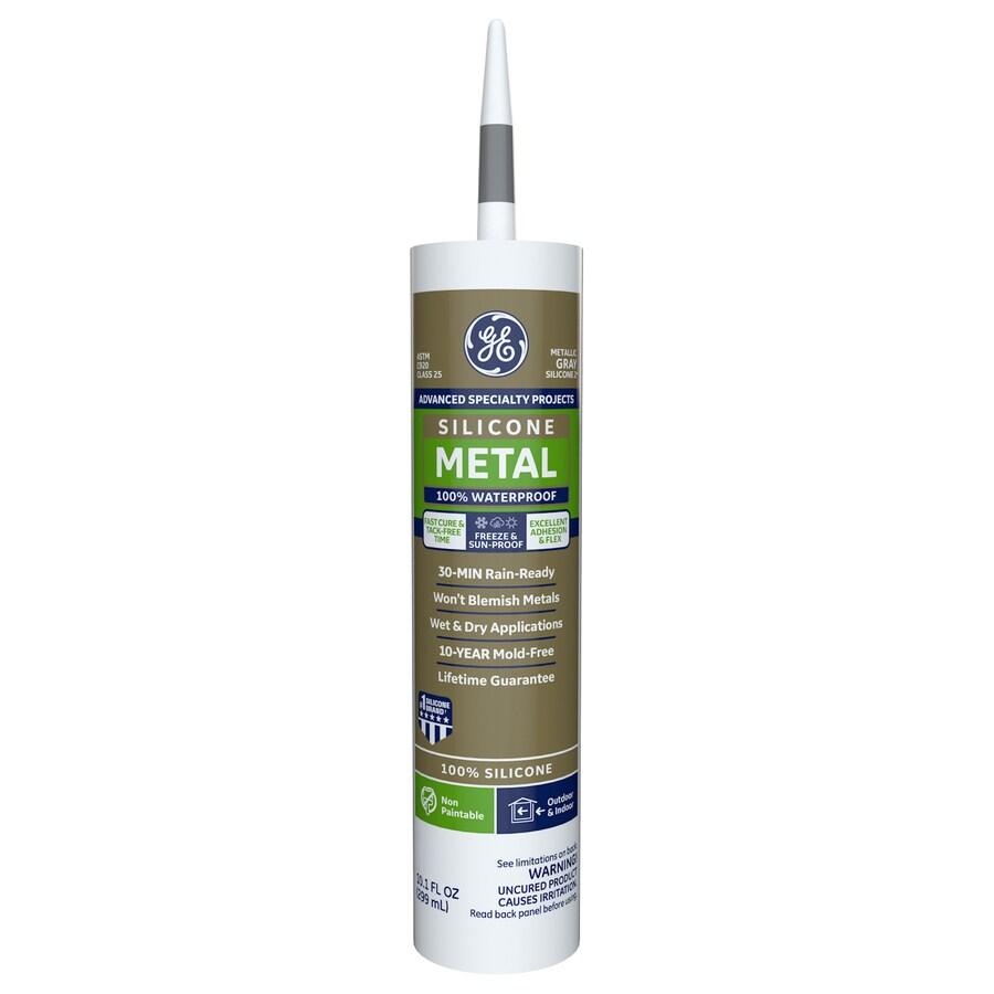 GE 10.1-oz Gray Silicone Specialty Caulk