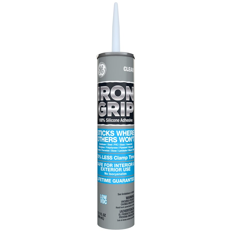 GE Iron Grip Silicone Adhesive - Clear