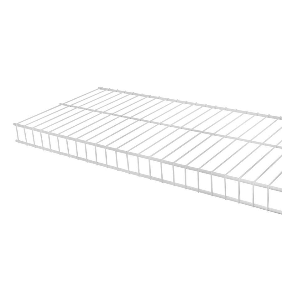 Rubbermaid Linen 8-ft L x 12-in D White Wire Shelf