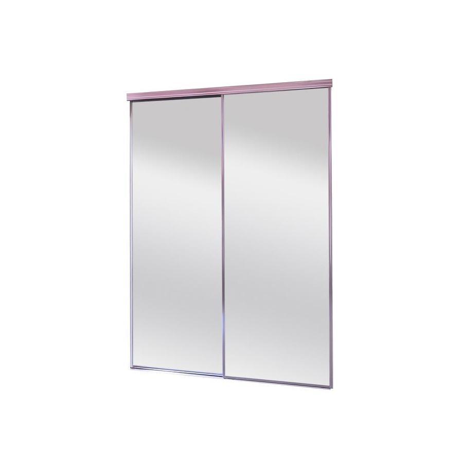 ReliaBilt Mirror Panel Sliding Closet Interior Door (Common: 72-in x 80-in; Actual: 72-in x 80-in)