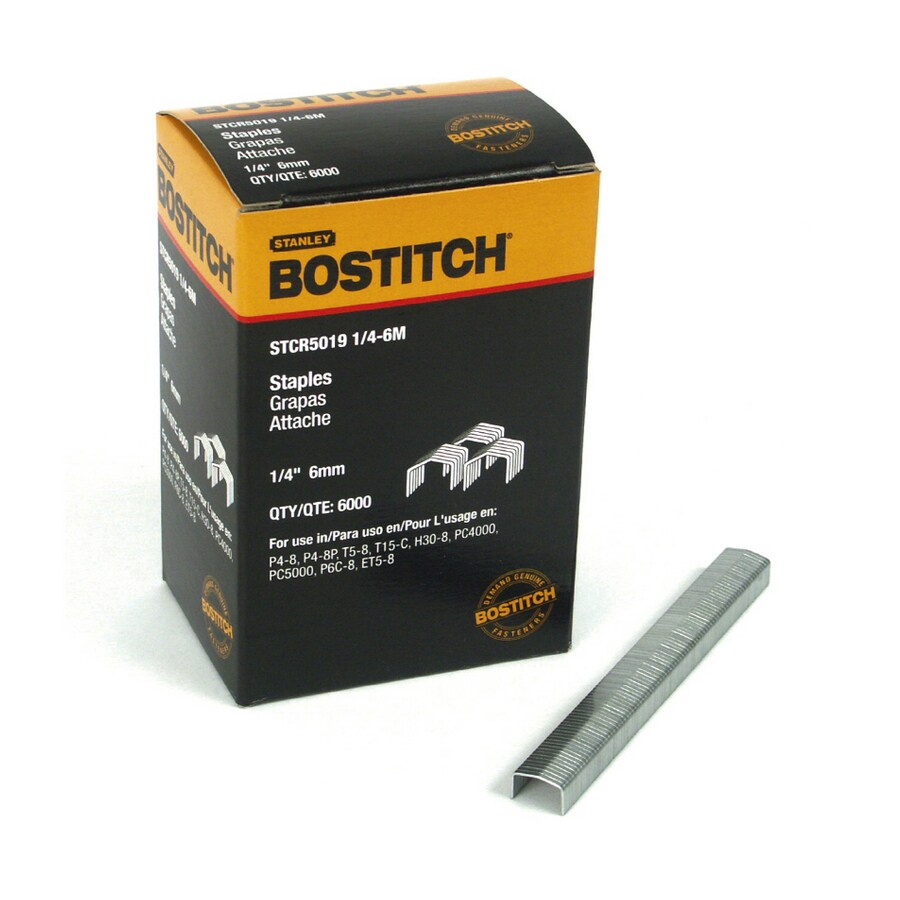 STANLEY-BOSTITCH 6,000-Count 0.25-in Manual Staples