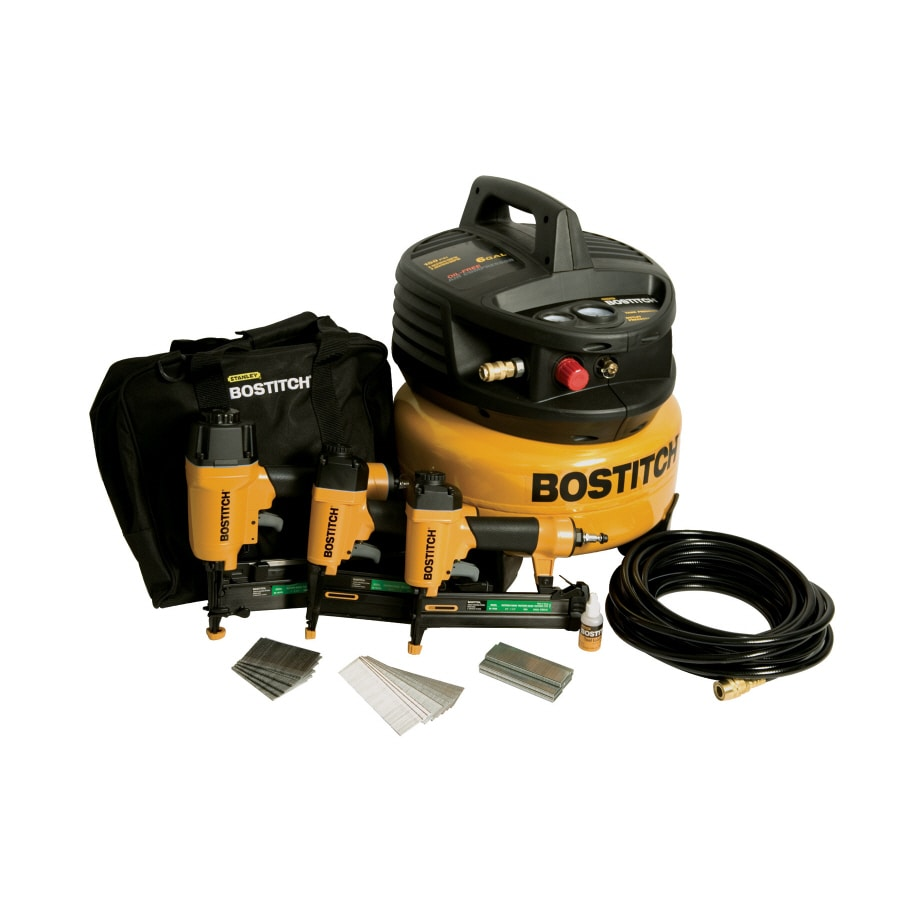 Bostitch 3-Tool Finish and Trim Combination Air Tool Kit