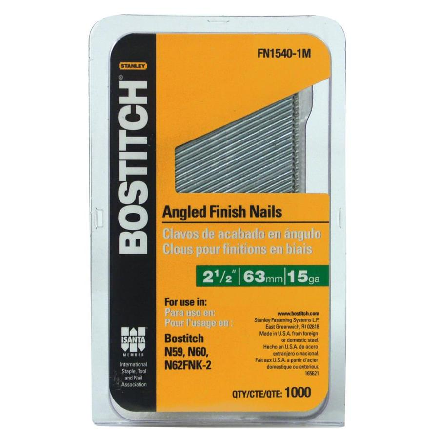 Bostitch 1,000-Count 15-Gauge 2.5-in Coated Finish Nail