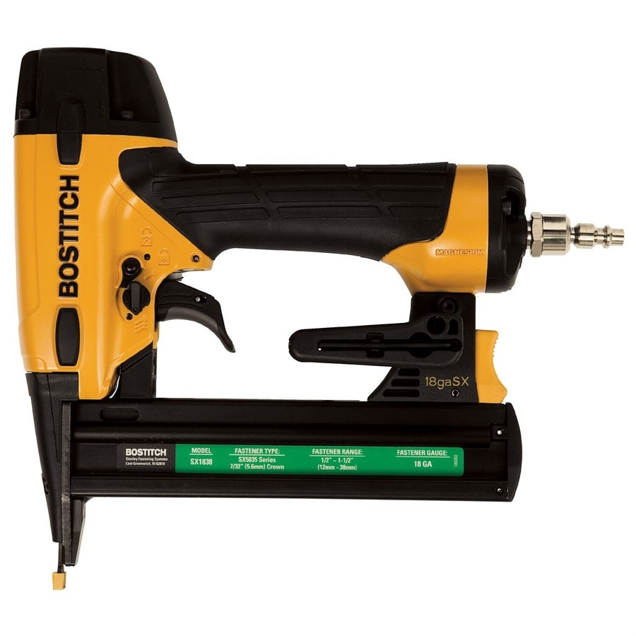 Shop bostitch 1 5 in 18 gauge pneumatic stapler at for 18 gauge floor stapler