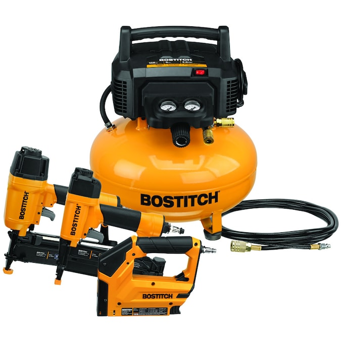 Bostitch 6-Gallon Single Stage Portable Electric Pancake Air Compressor (3-Tools Included)