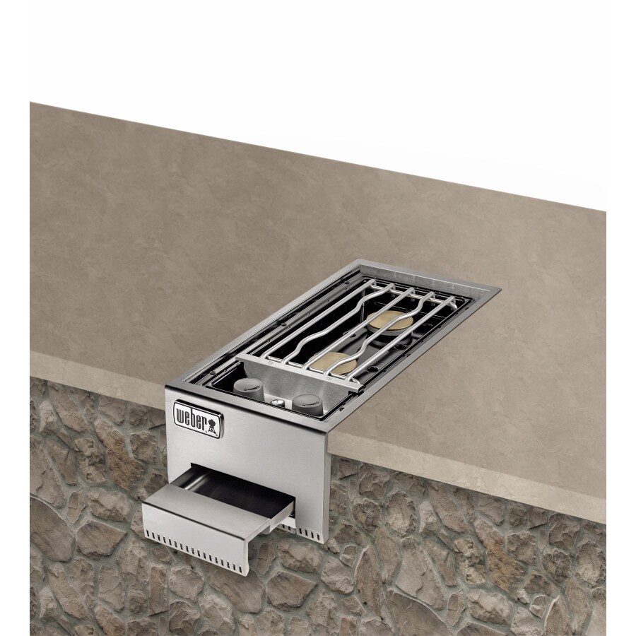 Weber Summit Built-In Grill Cabinet Natural Gas Side Burner
