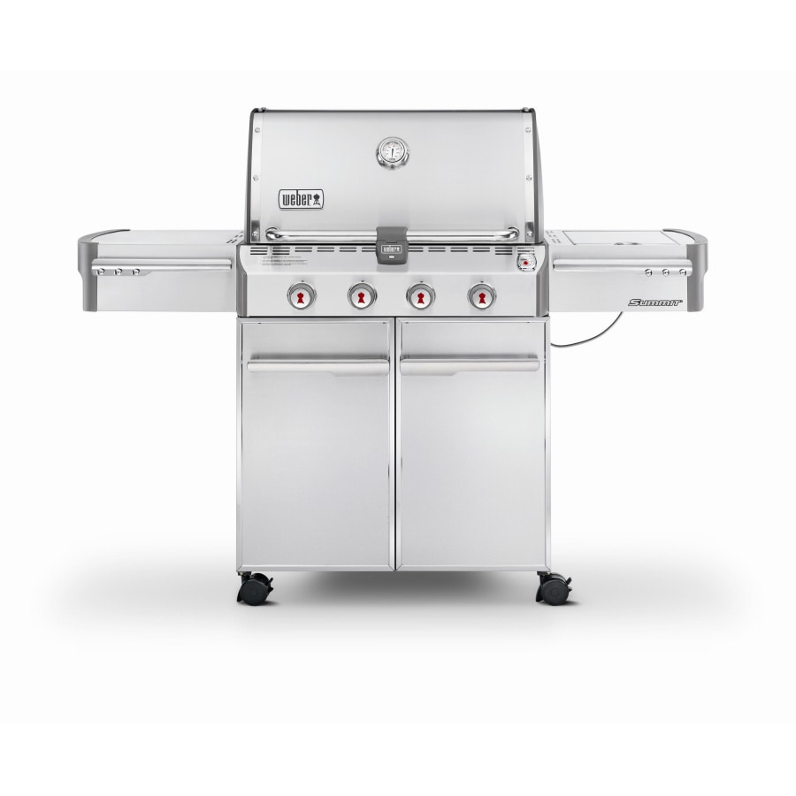 Weber Summit S-420 Stainless Steel 4-Burner (48,800-BTU) Liquid Propane Gas Grill with Side Burner