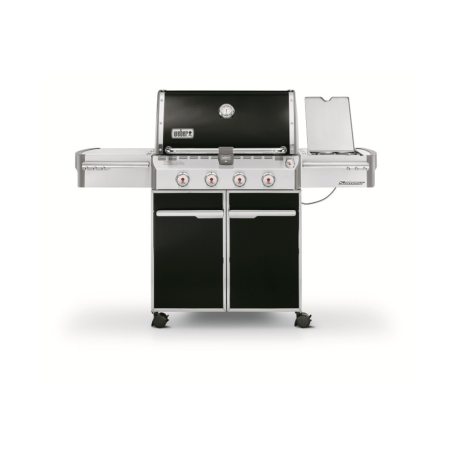 Weber Summit E-420 4-Burner (48,800-BTU) Natural Gas Grill with Side Burner