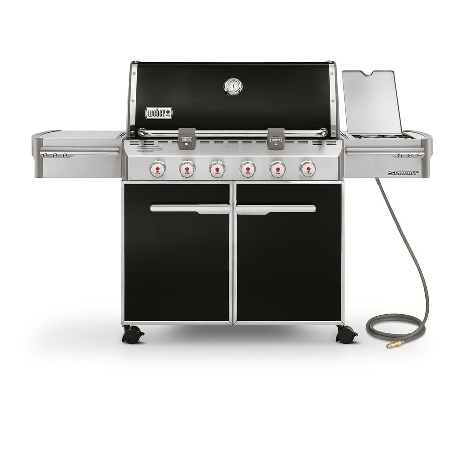 Weber Summit E-620 6-Burner (60,000-BTU) Natural Gas Grill with Side Burner