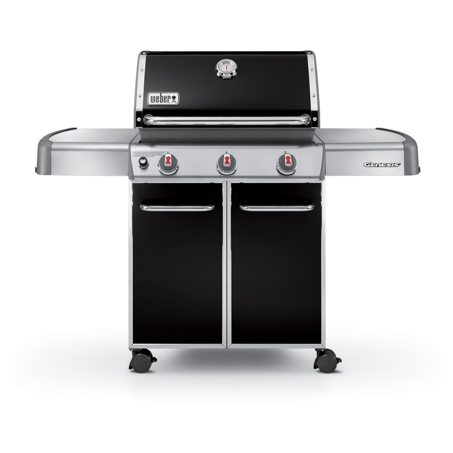 Weber Genesis E-310 Black 3-Burner (38,000-BTU) Liquid Propane Gas Grill