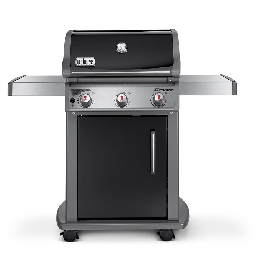 shop weber spirit e 310 black porcelain enamel 3 burner 32 000 btu liquid propane gas grill at. Black Bedroom Furniture Sets. Home Design Ideas