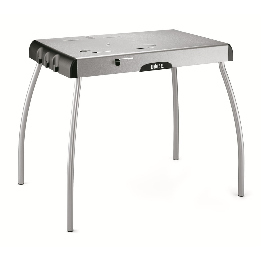 Shop Weber Steel Gray Folding Grill Stand At Lowes Com