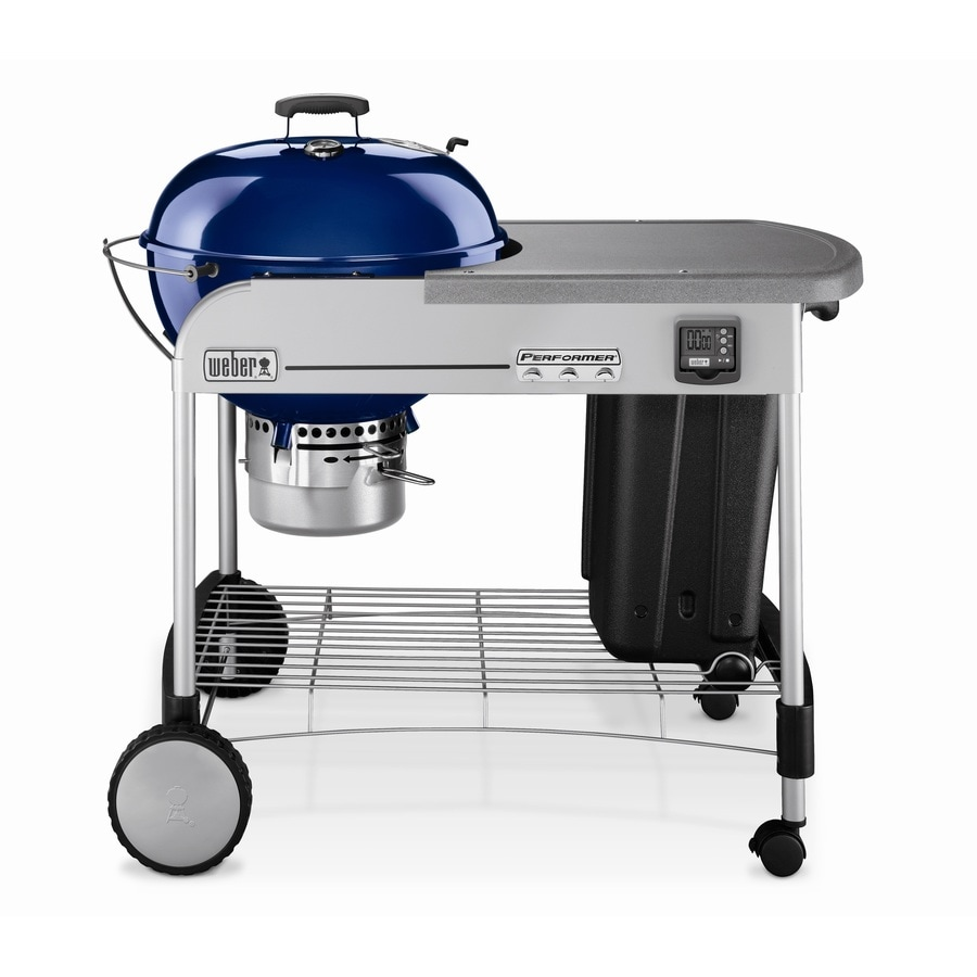 Weber Performer 22.5-in Dark Blue Charcoal Grill