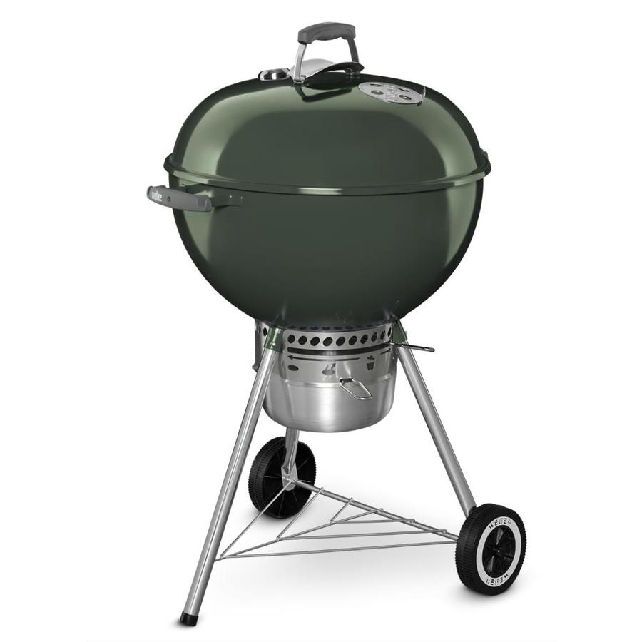 shop weber original kettle premium 22 in green charcoal grill at. Black Bedroom Furniture Sets. Home Design Ideas