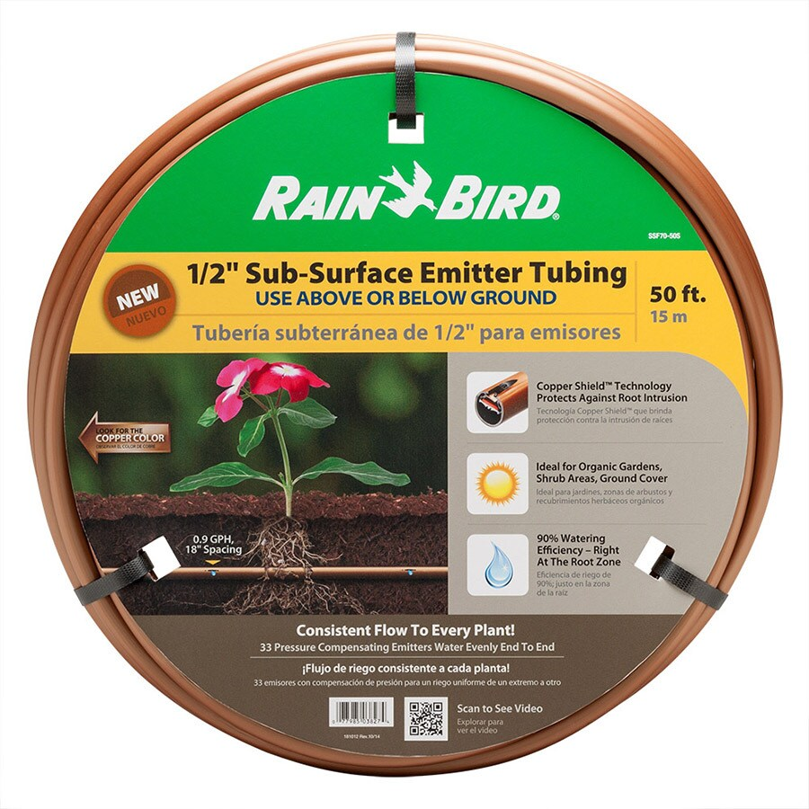 Rain Bird 1/2-in x 50-ft Polyethylene Drip Irrigation Emitter Tubing