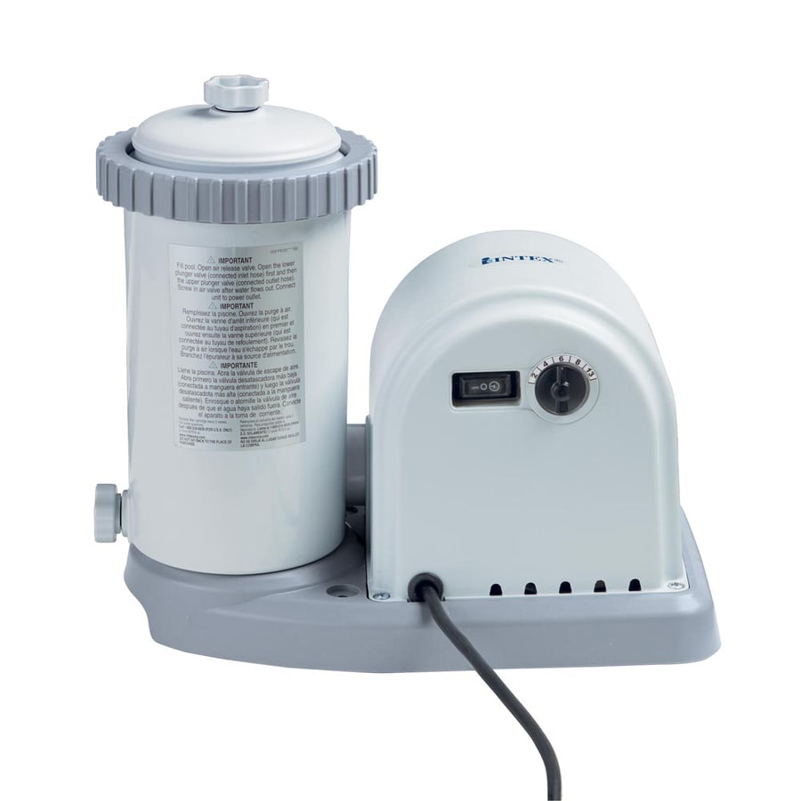Intex 6.38 Sq. Ft. Cartridge Pool Filter Systems with Pump