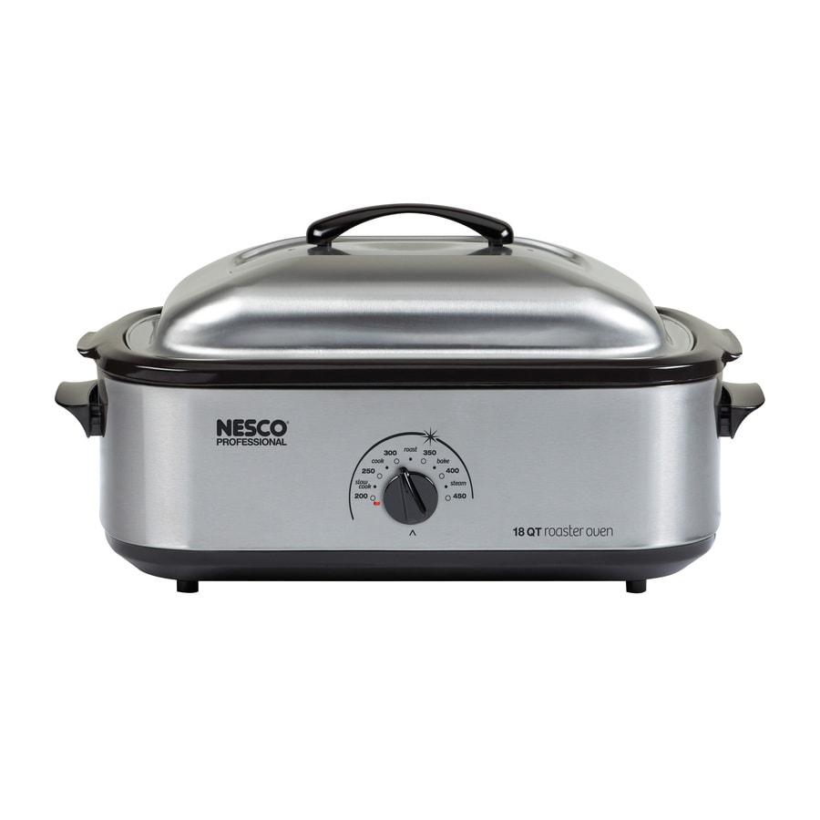 Nesco 18-Quart Stainless Steel Rectangle 1-Vessel Slow Cooker
