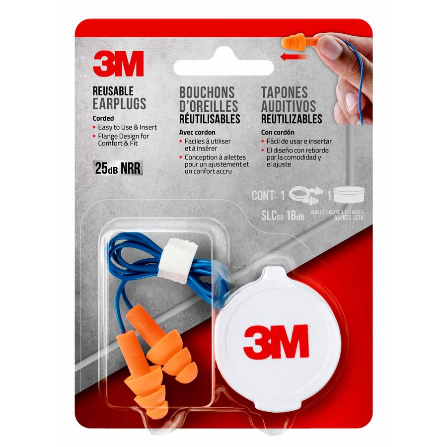 3M Reusable Corded Ear Plugs
