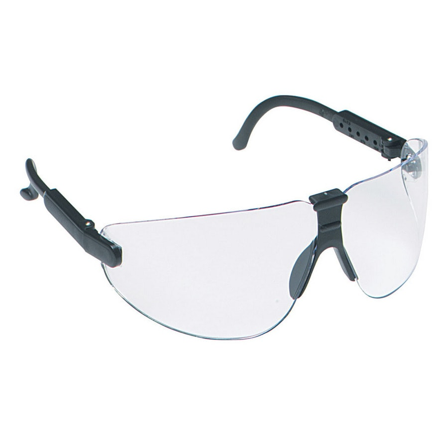 3M Black Frame with Clear Lens Plastic Professional Safety Glasses