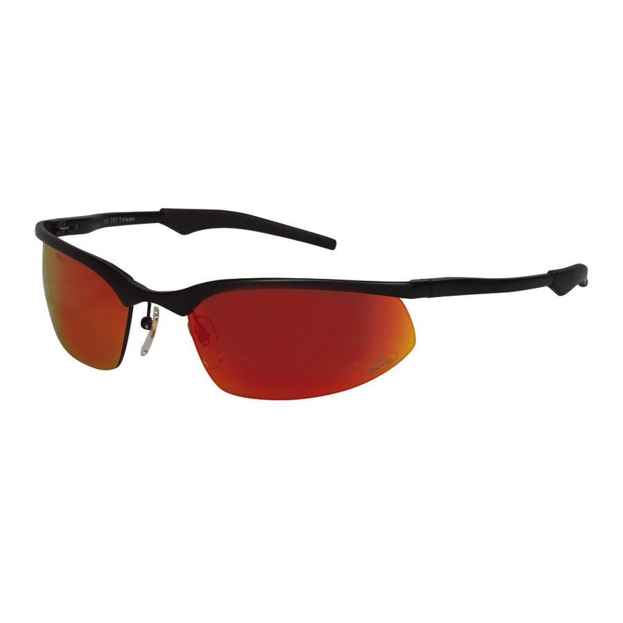 3M Black Frame with Red Lens Metal Safety Glasses
