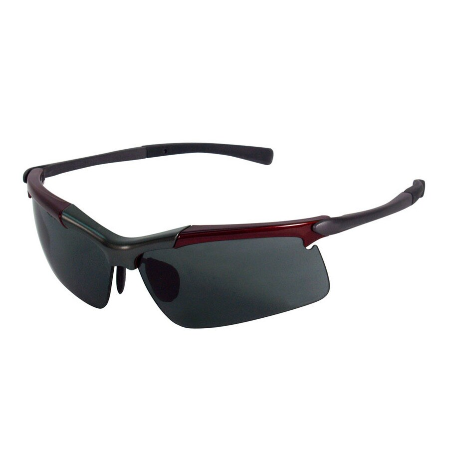 No Frame Safety Glasses : Shop 3M Maroon/Gray Frame with Gray Lens Metal Safety ...