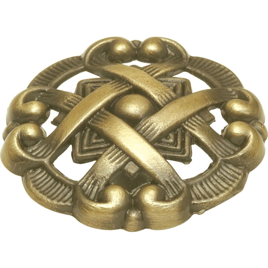 Shop Hickory Hardware Cavalier Antique Brass Round Cabinet Knob At