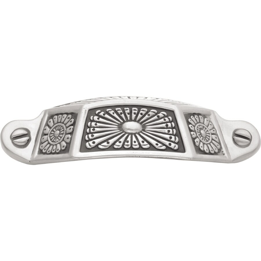 Hickory Hardware 3-in Center-to-Center Silver Medallion Southwest Lodge Cup Cabinet Pull