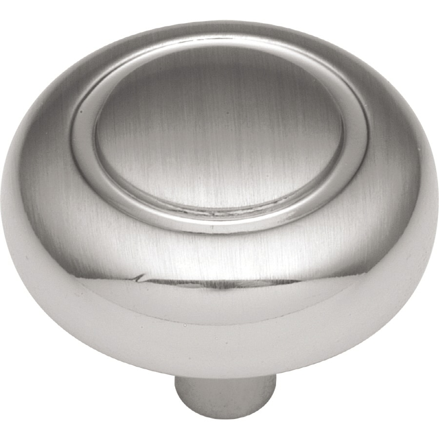 Hickory Hardware Eclipse Satin-Silver Cloud Round Cabinet Knob