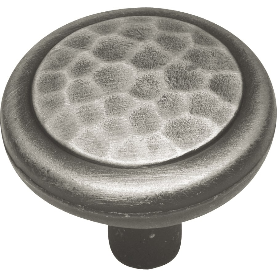 Hickory Hardware Arts and Crafts Antique Pewter Round Cabinet Knob