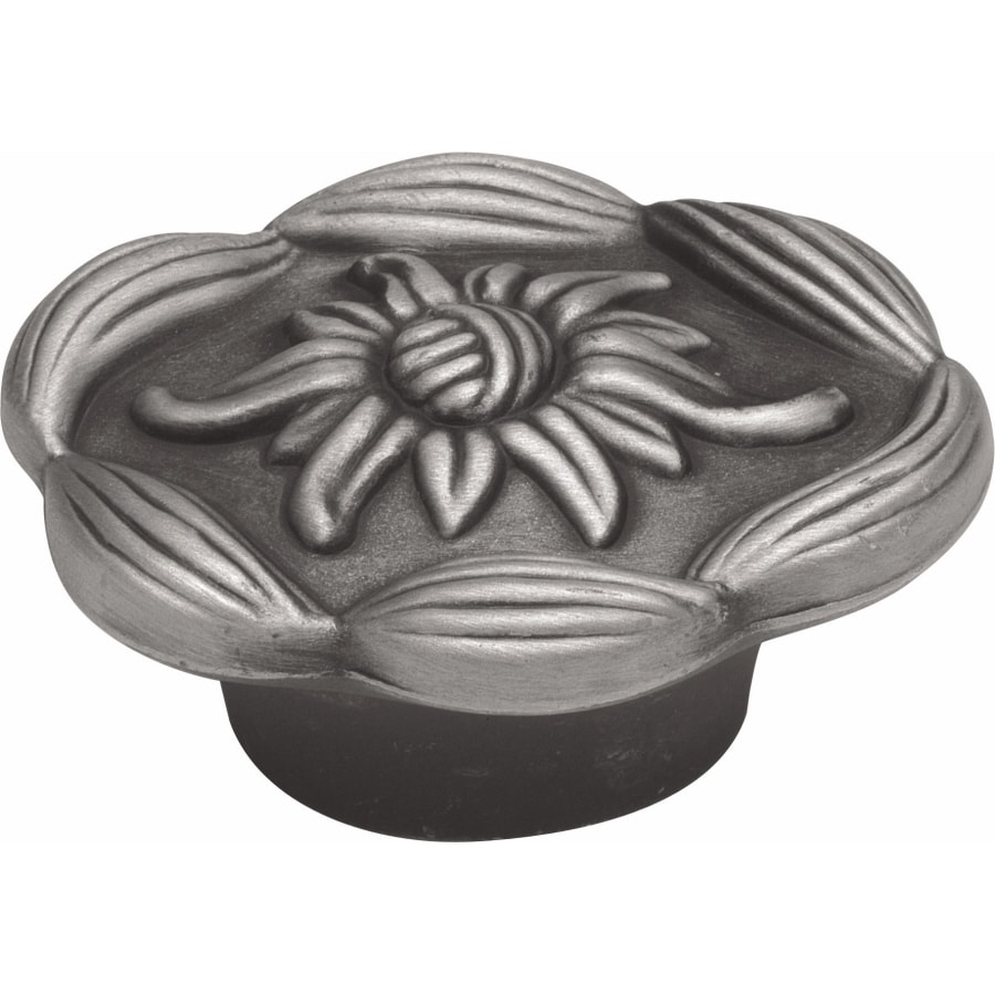 Hickory Hardware Morning Star Satin-Pewter Antique Round Cabinet Knob