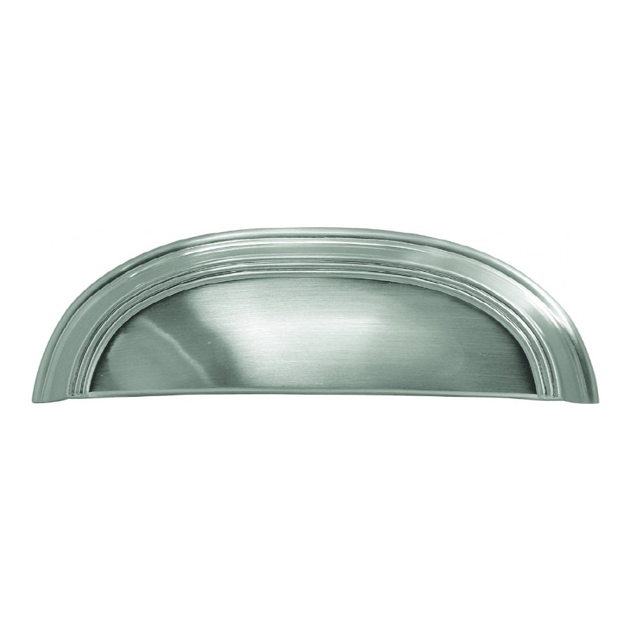 Hickory Hardware 3-in and 96mm Center-to-Center Satin Nickel American Diner Cup Cabinet Pull