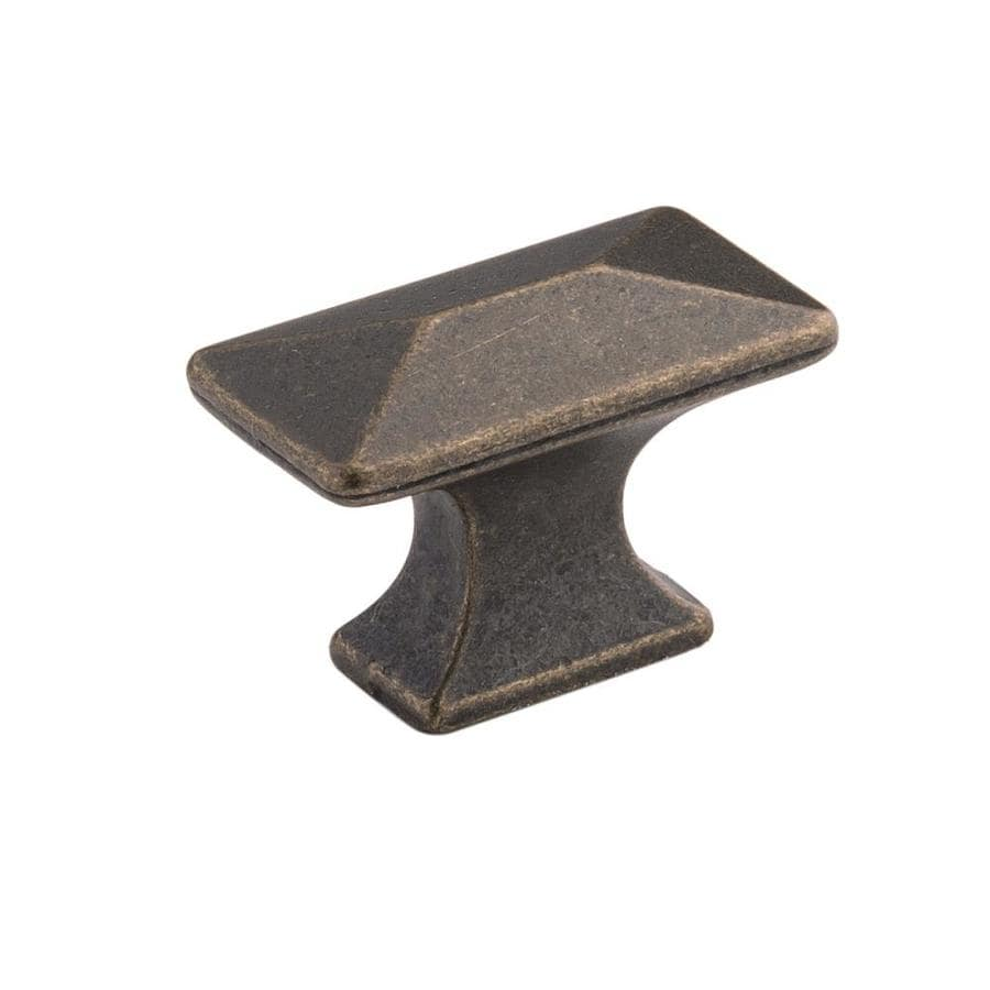 Hickory Hardware Bungalow Windover Antique Rectangular Cabinet Knob