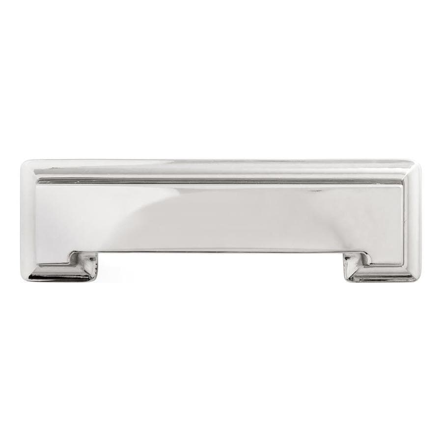 Hickory Hardware 3-in and 96mm Center-to-Center Bright Nickel Studio Cup Cabinet Pull