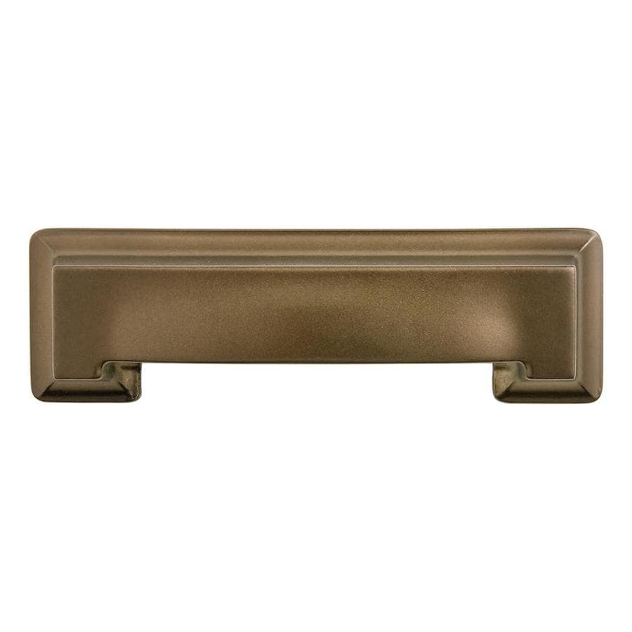 Hickory Hardware 3-in and 96mm Center-to-Center Veneti Bronze Studio Cup Cabinet Pull