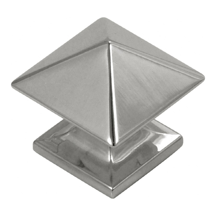 shop hickory hardware studio bright nickel square cabinet knob at
