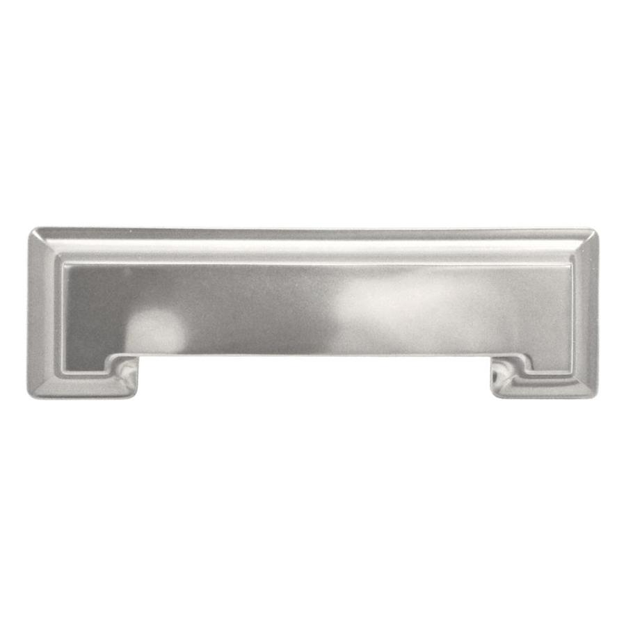 Hickory Hardware 3-in and 96mm Center-to-Center Stainless Steel Studio Cup Cabinet Pull