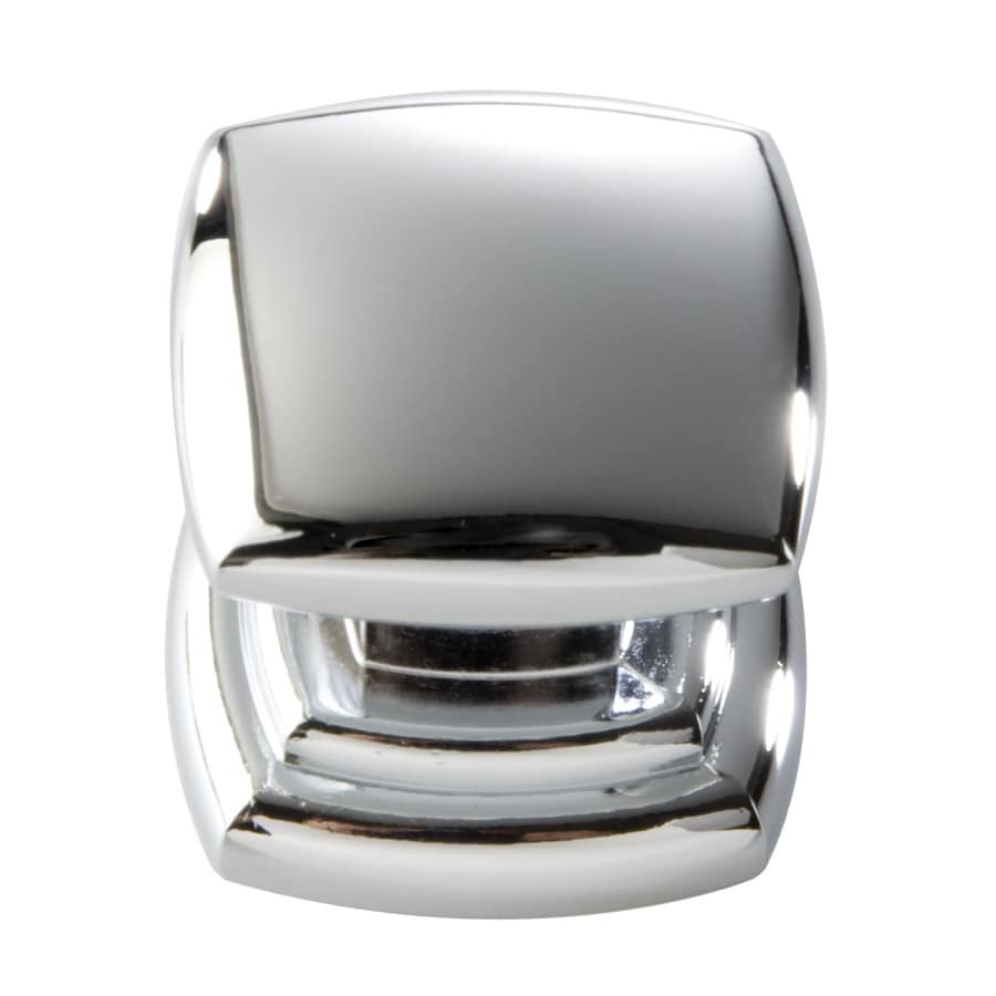 Shop hickory hardware euro contemporary chrome square cabinet knob at - Contemporary kitchen door handles ...