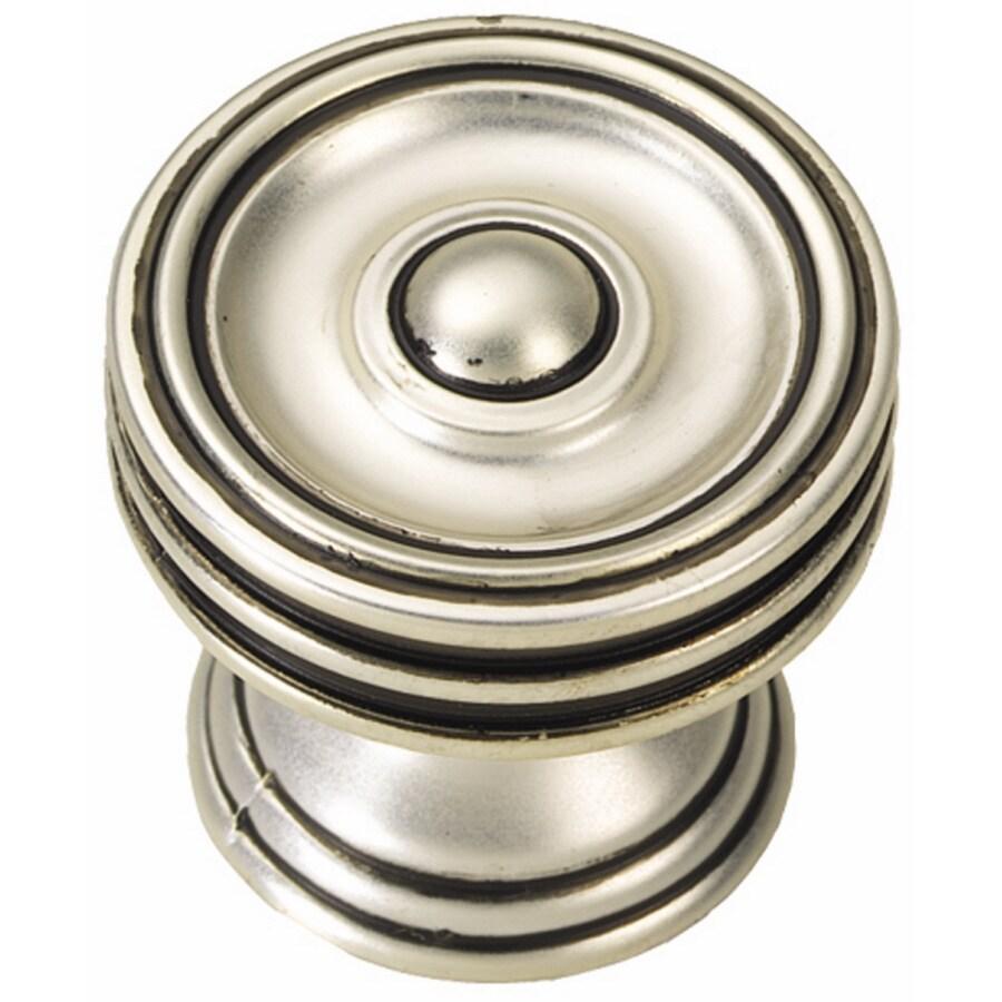 Hickory Hardware Altair Satin-Antique Silver Round Cabinet Knob