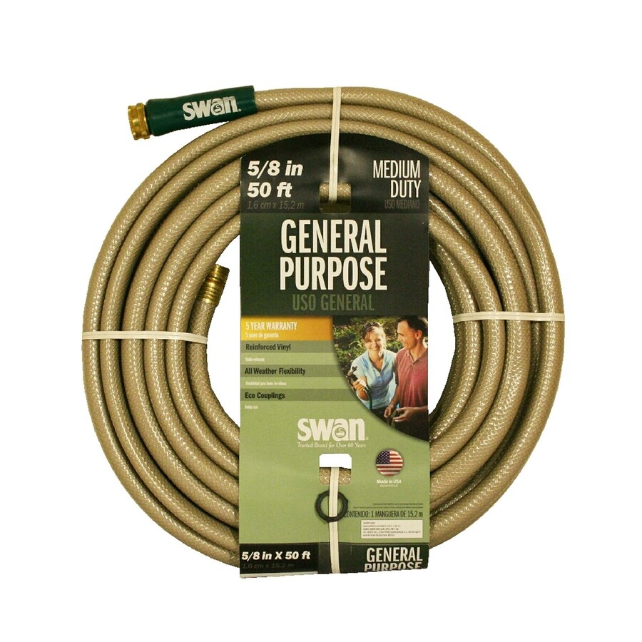SWAN 5/8-in x 50-ft Medium-Duty Garden Hose