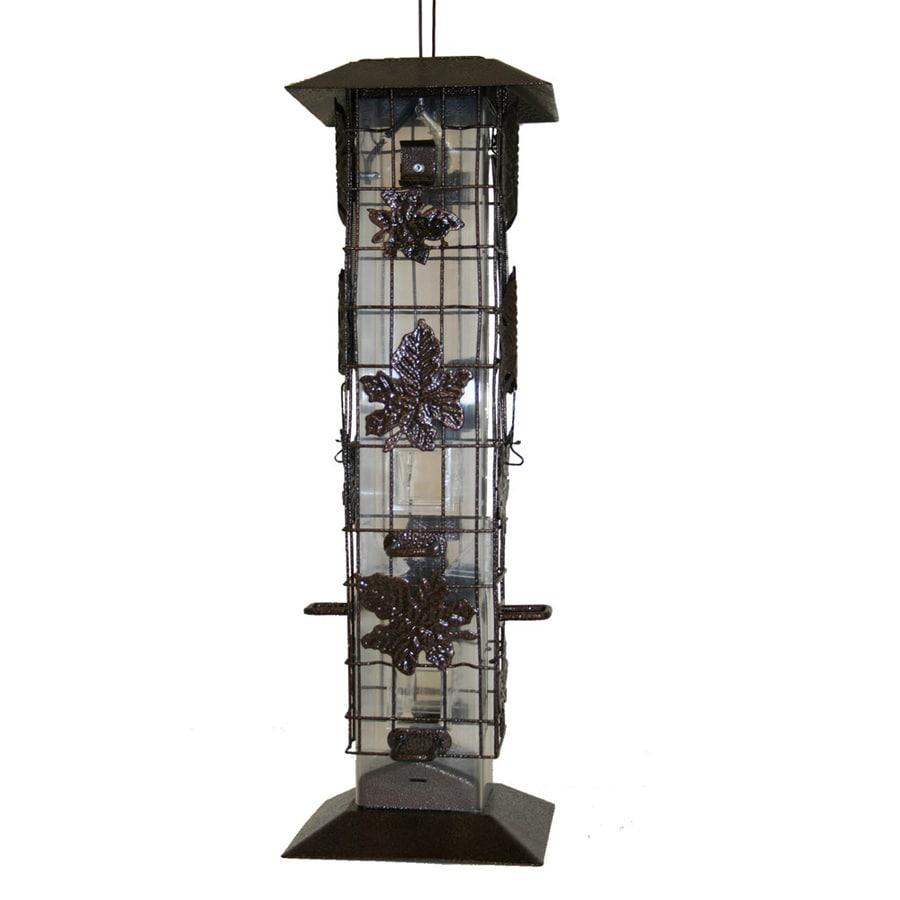 Garden Treasures Plastic Squirrel-Resistant Tube Bird Feeder