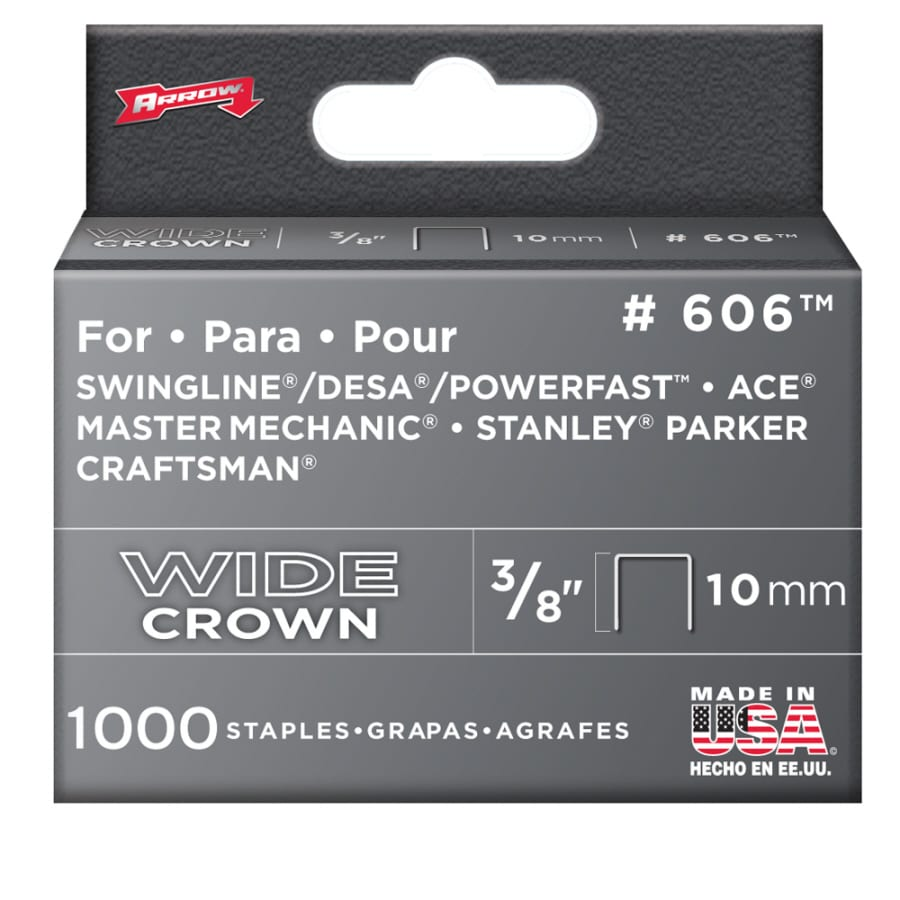 "Arrow 1000-Pack 3/8"" x 3/8"" No. 606 Heavy Duty Staples"