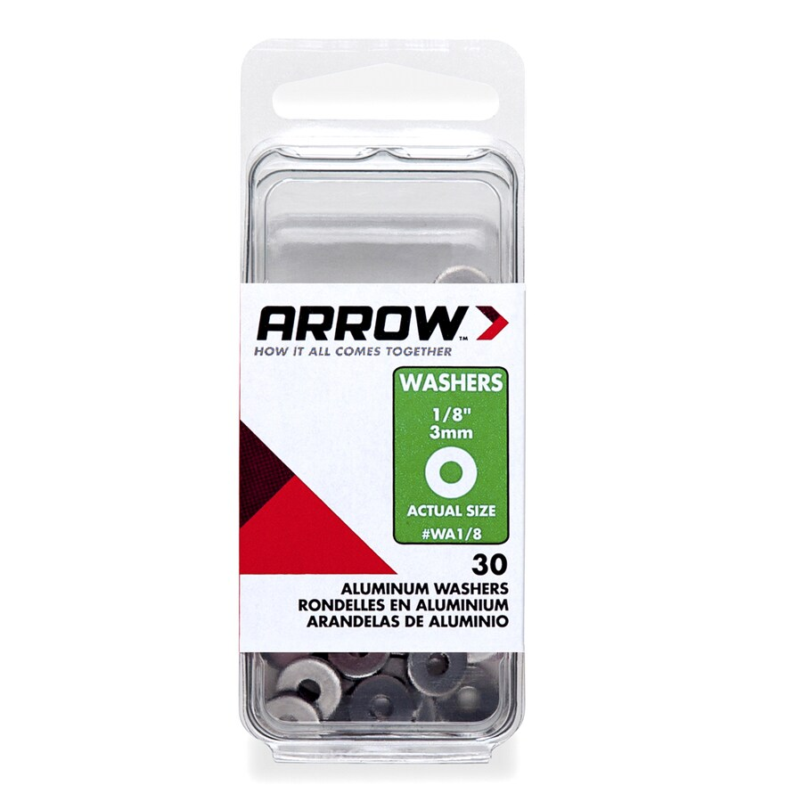 Arrow Fastener 30-Count 1/8-in Aluminum Standard (SAE) Flat Washers