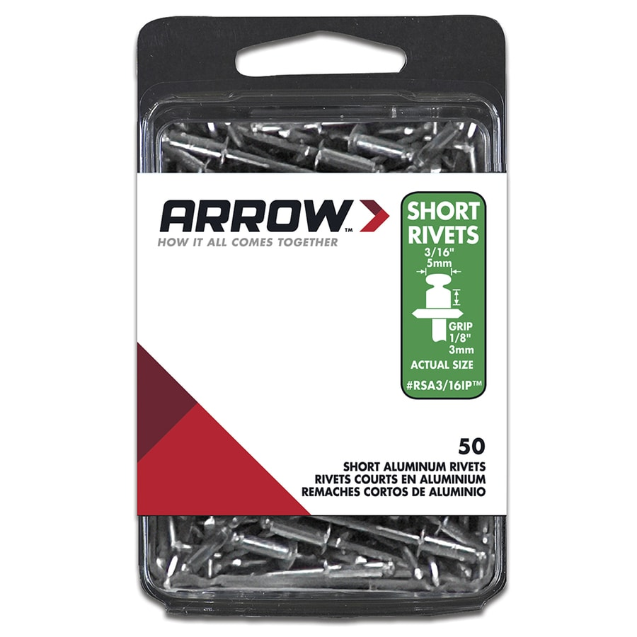 Arrow Fastener 50-Pack 3/16 Plain Aluminum Rivets