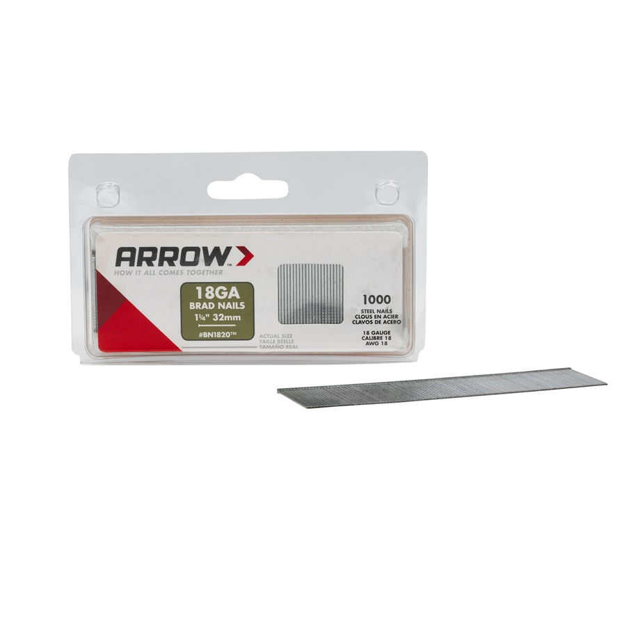 Arrow Fastener 1000-Count 18-Gauge 1.25-in Plain Steel Brad