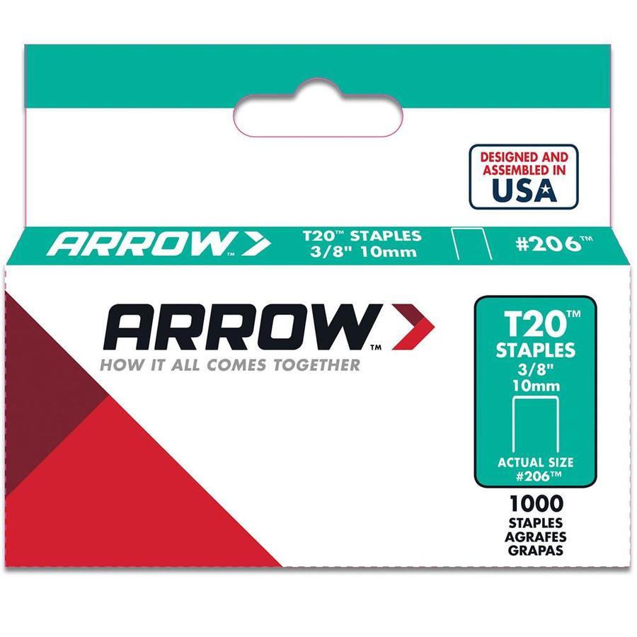 Arrow Fastener 1,000-Count 0.375-in T20 Staples