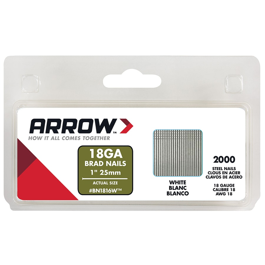 Arrow Fastener 2000-Count 18-Gauge 1-in Plain Steel Brad