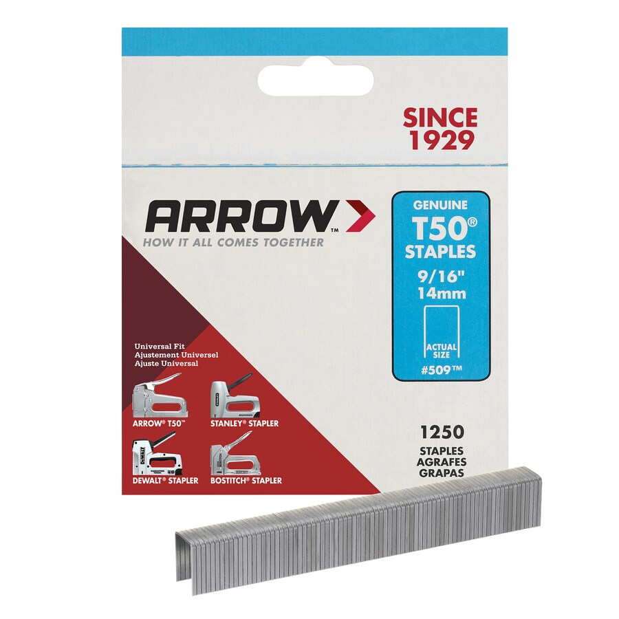 Arrow 1,250-Count 0.5625-in Heavy-Duty Staples