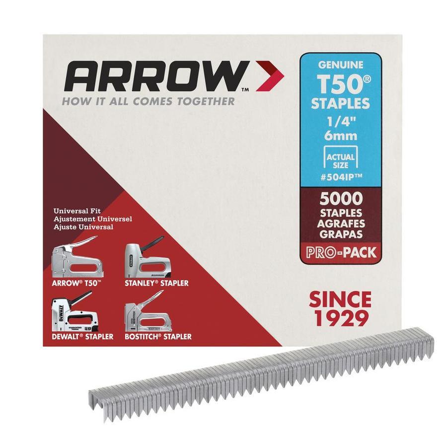 Arrow Fastener 5,000-Count 0.25-in Heavy-Duty Staples