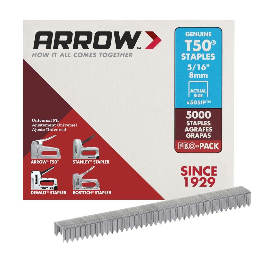 Arrow Fastener 5,000-Count 0.3125-in Heavy-Duty Staples